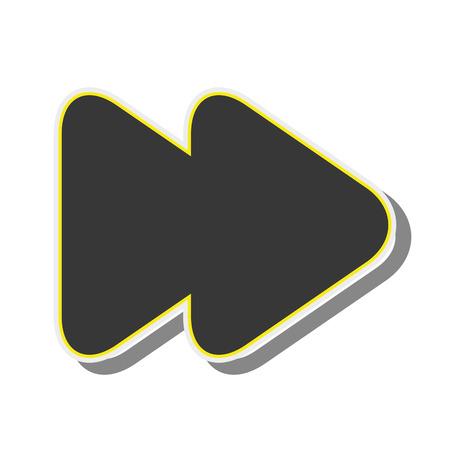 orientation: arrow next back button orientation navigation silhouette vector illustration