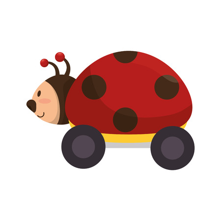 lady bug: lady bug cartoon toy kid game child entertainment object vector illustration Illustration