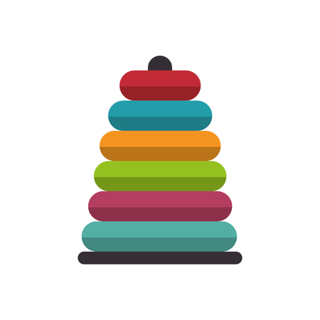 stacking: Stacking Ring toy kid game child entertainment object vector illustration Illustration