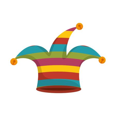 arlecchino: cappello giullare arlecchino clown costume coloful illustrazione vettoriale accessorio