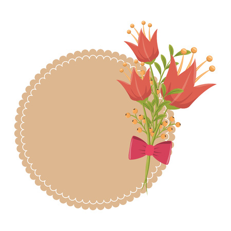 bowtie: flower bowtie seal stamp garden floral  nature plant decoration leaf vector illustration