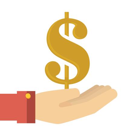 stack of dollar bill: money dollar cash  icon design, vector illustration
