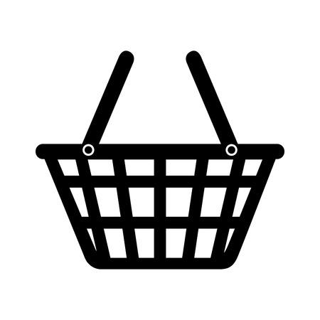 basket market buy shop store  icon design, vector illustration Illustration