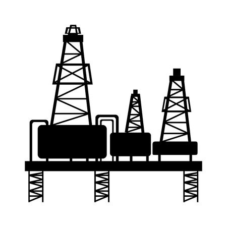 natural gas production: manufacture production oil platform isolated  vector illustration Illustration