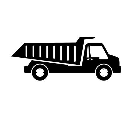 truck dumping dump construction isolated vector illustration eps 10