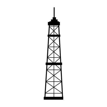 oil platform: manufacture production oil platform isolated  vector illustration Illustration