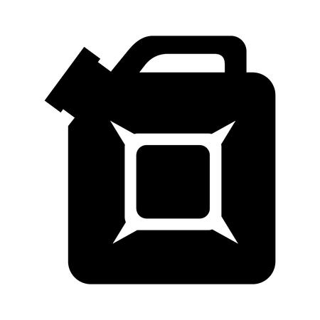gallon: gallon oil gasoline design isolated Illustration