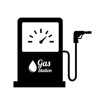 gasoline pump: station gasoline pump oil design Illustration
