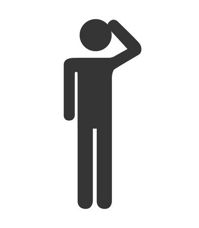 person standing: silhouette person standing design Illustration