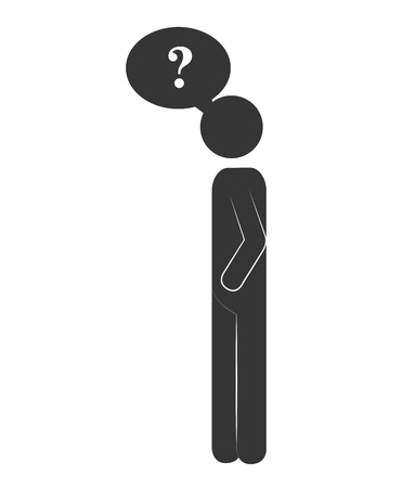 person standing: silhouette person standing design vector illustration eps 10
