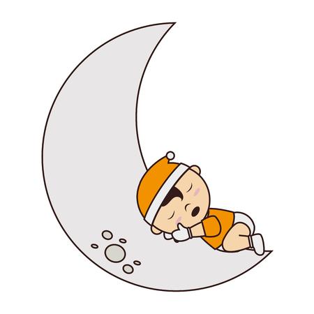 baby sleep: baby sleep cute small design vector illustration eps 10 Stock Photo