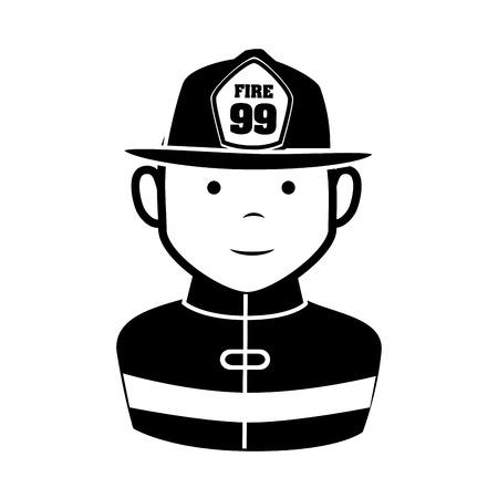 fireman equipement service emergency vector illustration eps 10 Illustration
