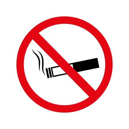 abstain: cigarette no warning forbidden vector illustration eps 10
