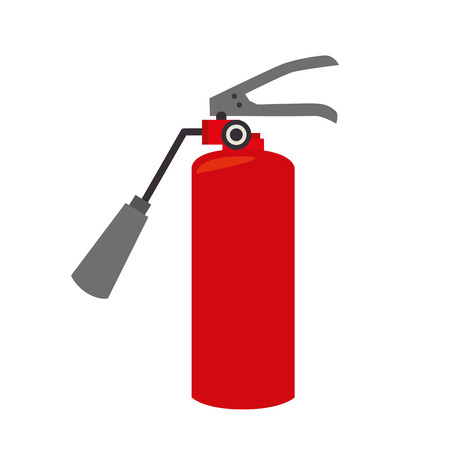 fire extinguisher equipement service emergency vector illustration eps 10 Çizim
