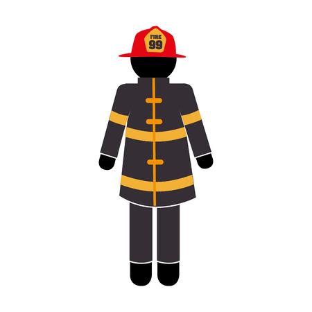 brandweerman uniform Vector Illustratie