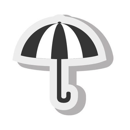 handle: umbrella handle weather design isolated vector illustration eps 10