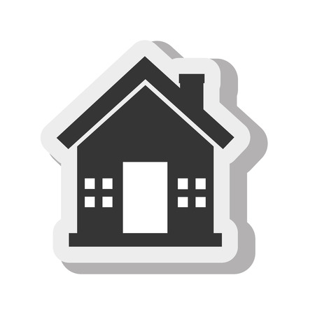 upmarket: house home estate isolated design vector illustration eps 10