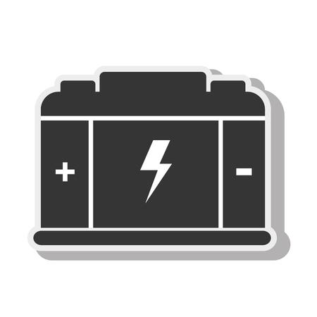air gauge: battery Illustration
