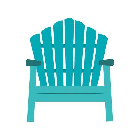 panoramic beach: chair sitting beach hawaiian vector illustration eps 10