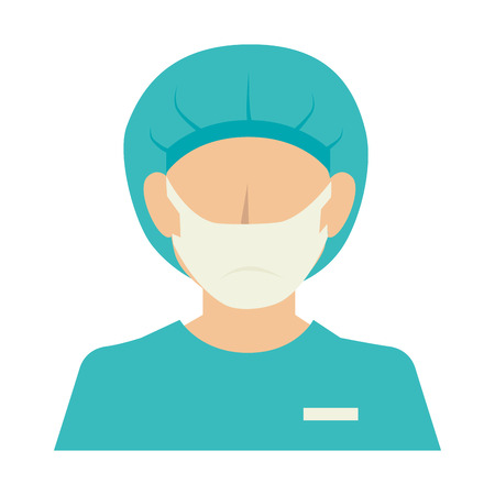 nurse woman silhouette design vector illustration eps 10 Illustration