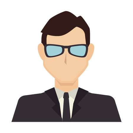 male silhouette: business man