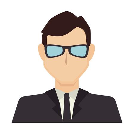 silueta masculina: hombre de negocios
