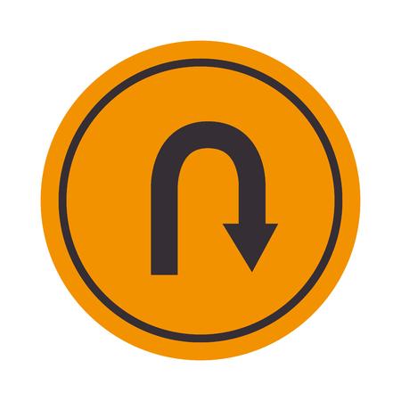 signal de demi-tour Vecteurs