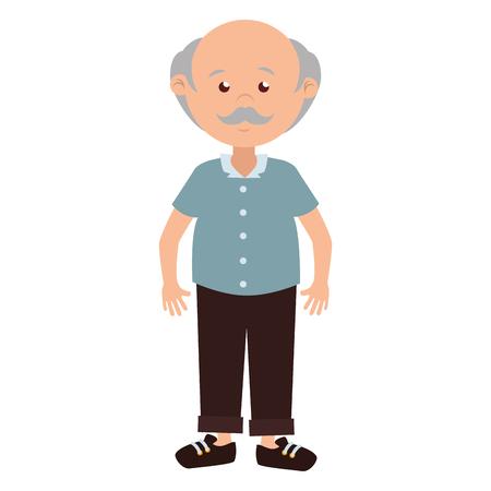 man cartoon old bald
