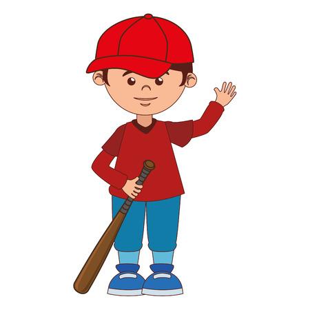 boy cartoon baseball