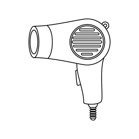 salón de secador de pelo Ilustración de vector