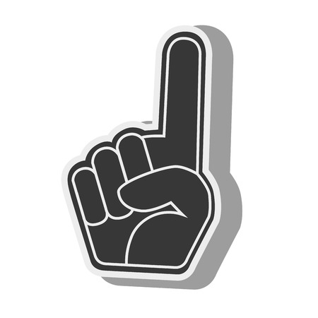 fandom: silhouette hand foam finger Illustration