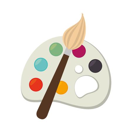 school kit: icon palette paint brush color Illustration