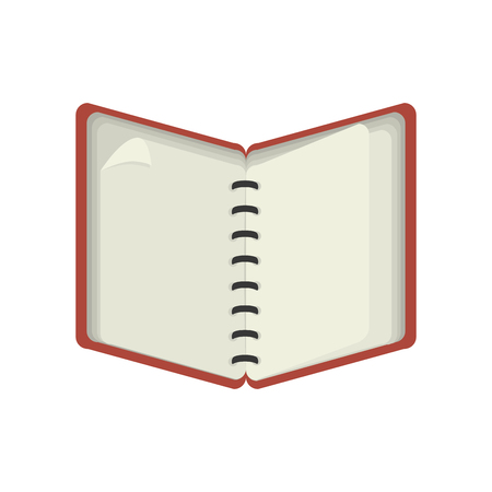spiral notebook: notebook notepad spiral red