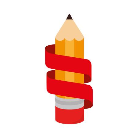 marca libros: icono de cinta de escritura de un lápiz