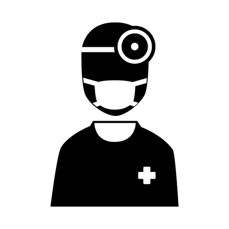 emergency services occupation: silhouette icon staff medical service Illustration