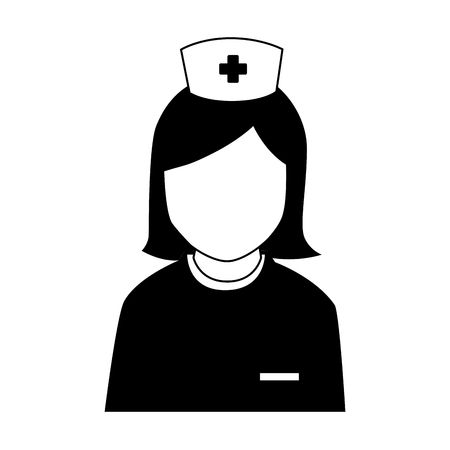 surgeons hat: silhouette icon staff medical service Illustration
