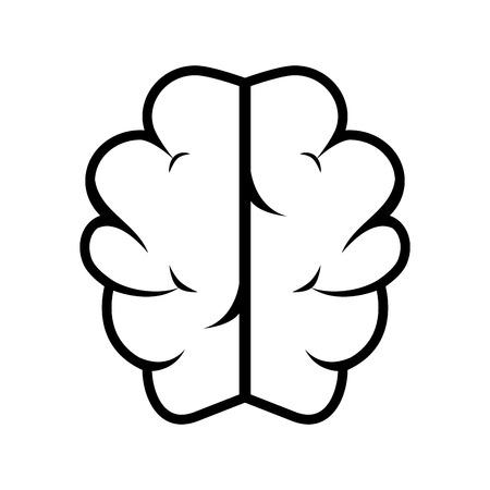 enigma: silhouette brain thinking idea