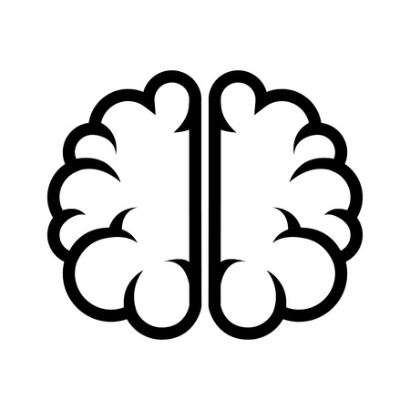 silhouette brain thinking idea
