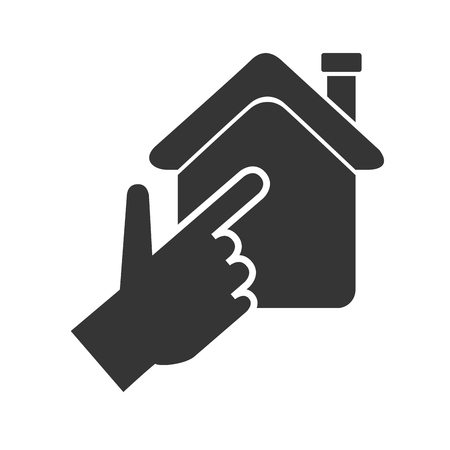 real state: house, hand, real state Illustration