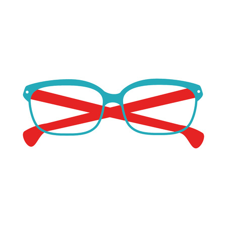 eyewear fashion: glasses blue and red