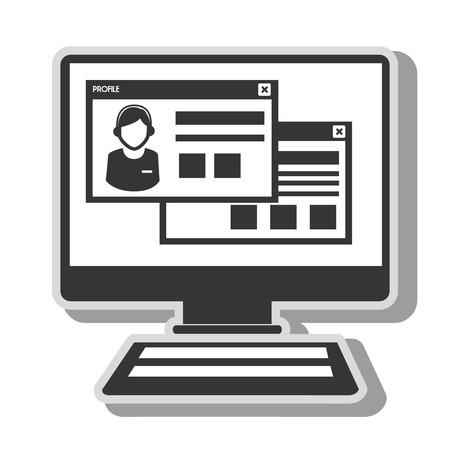 website: computer website page Illustration