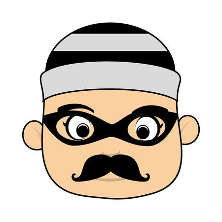 criminal: man criminal Illustration