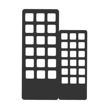 midtown: building architecture icon Illustration