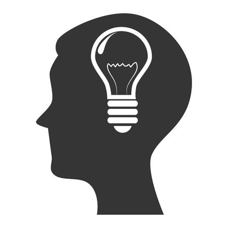 sideways: silhouette head idea Illustration