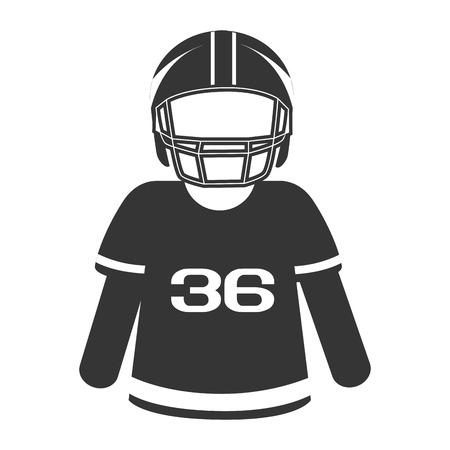 interception: silhouette  football american player Illustration