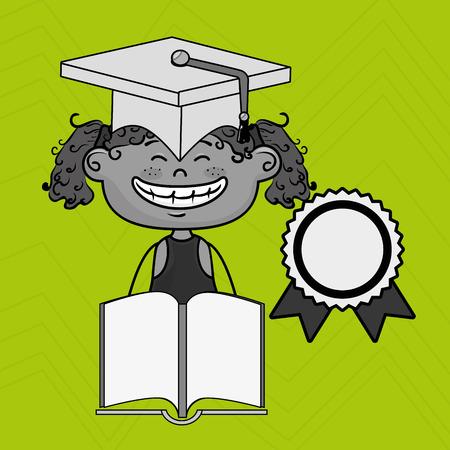 cola mujer: chica estudiante tapa de libro de ilustración vectorial eps10 10 pesetas