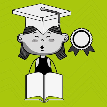 esp: girl student book cap vector illustration eps10 esp 10
