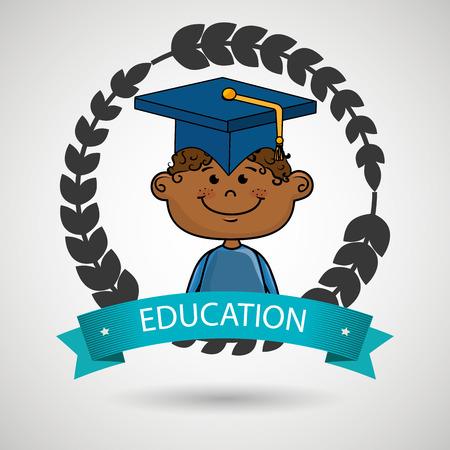 graduated: graduated student Illustration