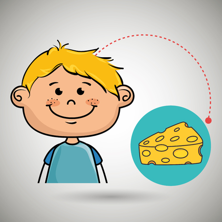 boy and cheese