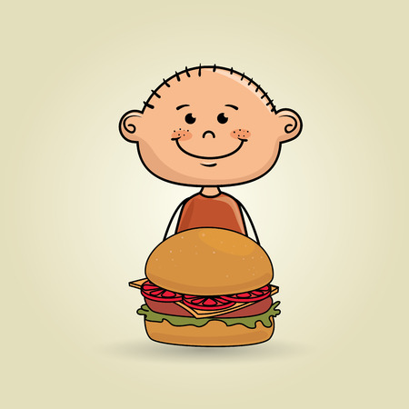 sesame seeds: boy and burger